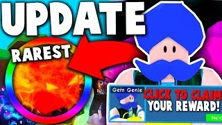*NEW* MYSTERY GEM GENIE & RAREST SHINY PET POSSIBLE! *INSANE* - Roblox Bubble Gum Simulator (Update)