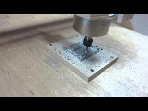 Фрезеровка алюминия на станке хобби класса из фанеры
