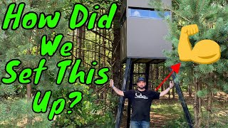 How To Set Up Deer Hunting Blinds Without Heavy Equipment - Sad Daddy