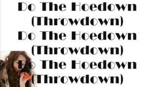 Miley Cyrus - HoeDown ThrowDown/Zig Zag (With Lyrics)