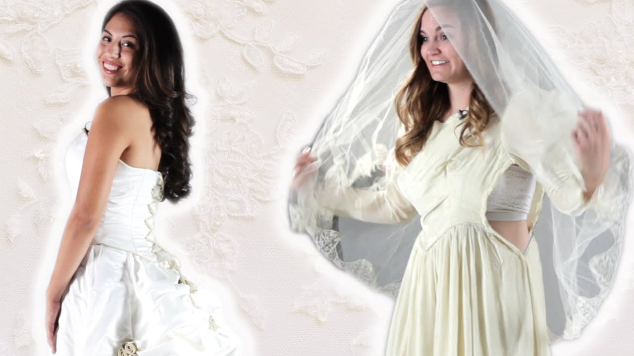 Daughters Try On Their Mother's Wedding Dress thumbnail