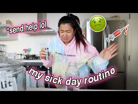 my sick day routine... plz send help