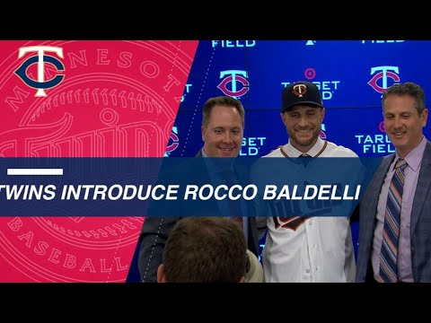 Rocco Baldelli is introduced as 14th manager of Twins