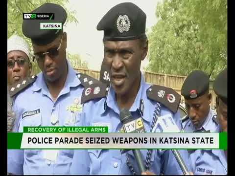 Police parade seized weapons in Katsina
