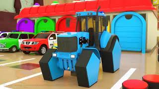 Learn Shapes with Police Truck  Rectangle Tyres Assemby  Cartoon for Children 3D Part #1