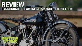 I-Beam Inline Springer Front Fork - Chrome springs