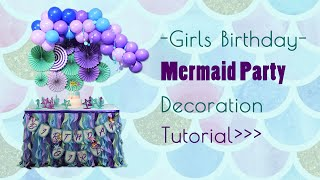 How To DIY Mermaid Theme Party Decorations | Summer Party | Birthday Party Idea