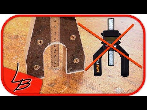 Höhenmesser für Oberfräse und Tischkreissäge | EXAKTE Maße JEDESMAL | Lets Bastel