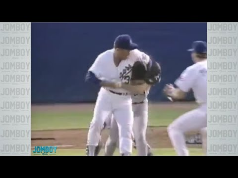 26-year-old Robin Ventura charges 46-year-old Nolan Ryan, a breakdown