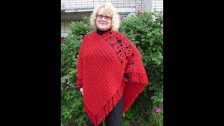 How to crochet poncho shawl free pattern