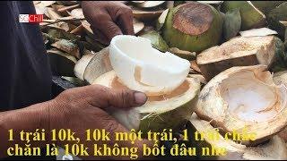 Người Bến Tre Bán Dừa Xiêm 10k Ngon Ngọt, Lấy Cơm Cực Khéo