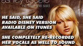 Ashley Tisdale - He Said She Said - All Versions Comparison