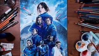 Rogue One: A Star Wars Story - Colored pencil drawing | drawholic