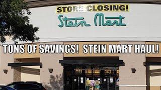 Stein Mart STORE CLOSING OCTOBER 25, Walk Thru and Haul! #steinmart