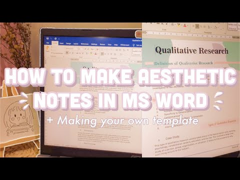 DIGITAL NOTE TAKING USING MS WORD I How to take aesthetic notes using Microsoft word