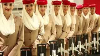Emirates Cabin Crew at Dubai Mall | Emirates Official Store & A380 Experience