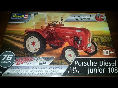 Revell Porsche Diesel Junior 108 1:24 07820 Der Bau (-satz) aus der nähe