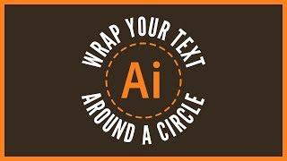 Wrap Text Around A Circle with Adobe Illustrator | Beginner Tutorial