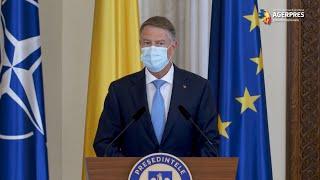 Declaraţie de presă susţinută de preşedintele Klaus Iohannis
