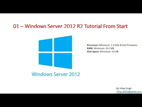 01 – Windows Server 2012 R2 - Tutorial Introduction Video - YouTube