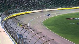 NASCAR - Kansas2015 CWTS Final Laps Leaders Run Out of Fuel