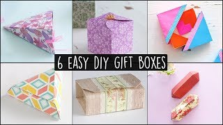 6 Easy DIY Gift Boxes