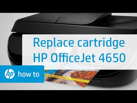 Replacing a Cartridge on the HP OfficeJet 4650 Printer | HP OfficeJet | HP