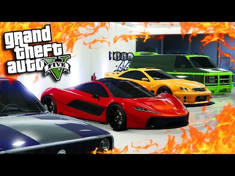 GTA Online: Triple Garage Tour On PS4 - Fully Customised & Fastest Racing Cars (GTA 5 Car Showcase)