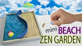 Mini Beach Zen Garden DIY Water Slime And Sand | Fun Kids Crafts