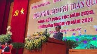 Phó thủ tướng Vũ Đức Đam phát biểu tại Hội nghị Báo chí toàn quốc năm 2020
