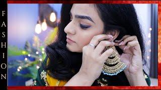 GRWM Indian Wedding Guest Look *Makeup* , Hair & Outfit   Indian Wedding Guest Makeup Tutorial