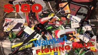 $180 Walmart Fishing Tackle Haul!