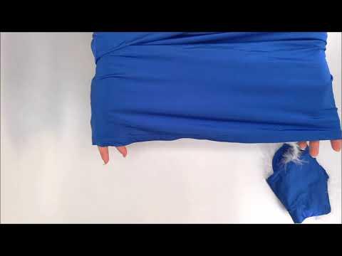 Vánoční kostým Kissmas chemise blue - Obsessive