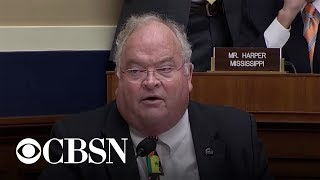 Congressman uses auctioneer talk to drown out protester at Twitter hearing