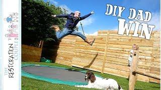 DIY IN-GROUND TRAMPOLINE  - Garden Playground Transformation