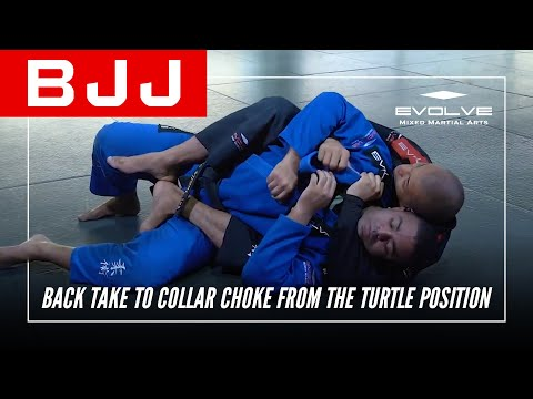 BJJ   Back Take To Collar Choke From The Turtle Position   Evolve University