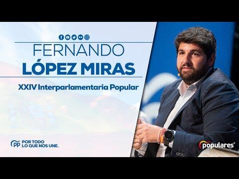 Fernando López Miras en la XXIV Interparlamentaria Popular