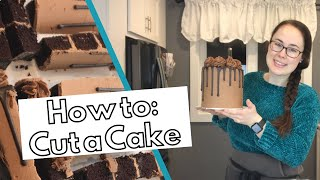 HOW TO CUT A CAKE: Properly cut a tall cake