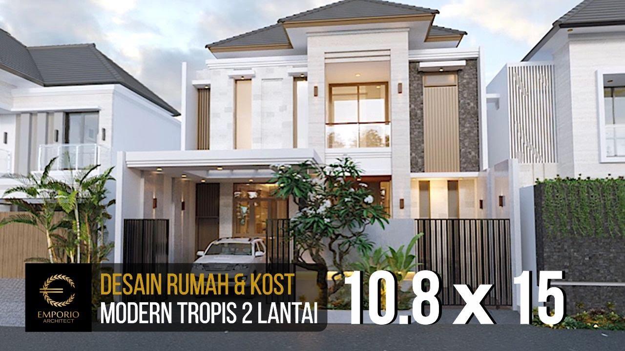 Video 3D Desain Rumah dan Kost Modern 2 Lantai Ibu Wenny di Jakarta