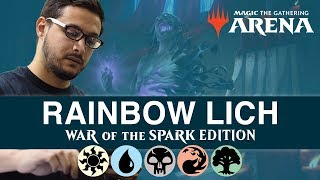 MTG Arena: Rainbow Lich (War of the Spark Edition) with Ali Aintrazi [Bo1 Format]