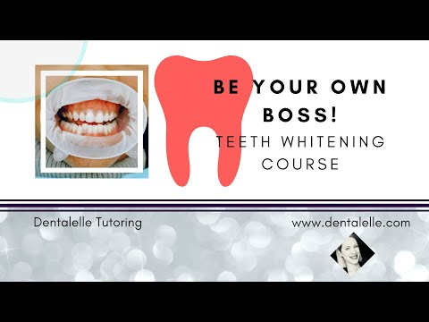 Teeth Whitening Training - BE YOUR OWN BOSS - YouTube