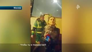 Автоледи из Москвы устроила истерику из-за эвакуированной машины