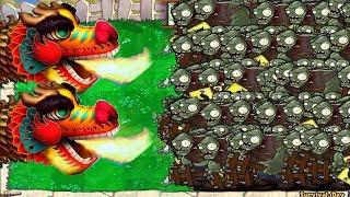 Plants Mod Zombie Tsunami - Dragon Vs 9999 Gargantuar