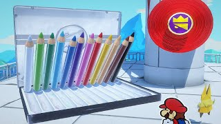 Paper Mario Origami King - Colored Pencils Boss Fight #2