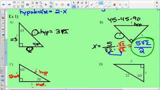 8.2 Special Right Triangles