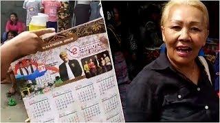Mengaku Mantan Ahok, Wanita Ini Bagikan Kalender Djarot di Kabanjahe