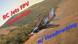 RC Jet F-100 Super Sabre FPV Formation