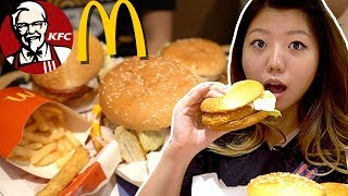 Special KOREAN McDonald's & KFC Menu Items 🍔 Seoul Korea Fast Foods