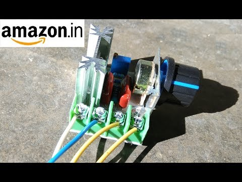 Motor Speed Controller/Light Dimmer 2KW Review || Amazon