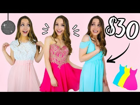 TRYING ON PROM DRESSES UNDER $30!